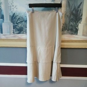 Larry Levin Skirt Size 8 A-line Tiered Line linen